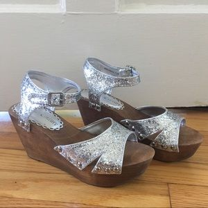 Silver Glitter Juicy Couture Platforms